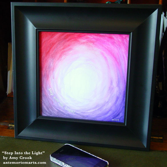Step Into the Light, framed art by Amy Crook
