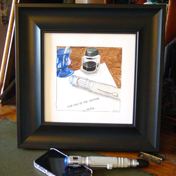 Still Life With Fandom 1: Who?, framed art by Amy Crook