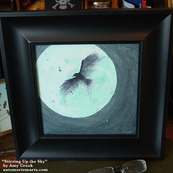 Stirring Up the Sky, framed art by Amy Crook