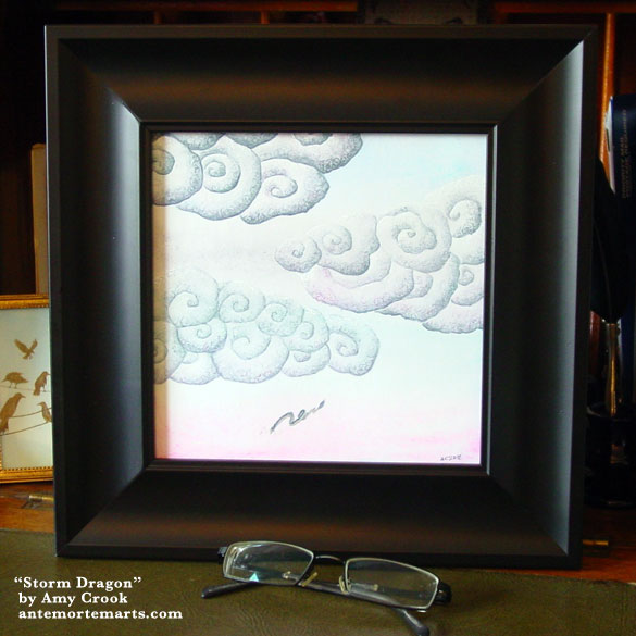 Storm Dragon, framed art by Amy Crook