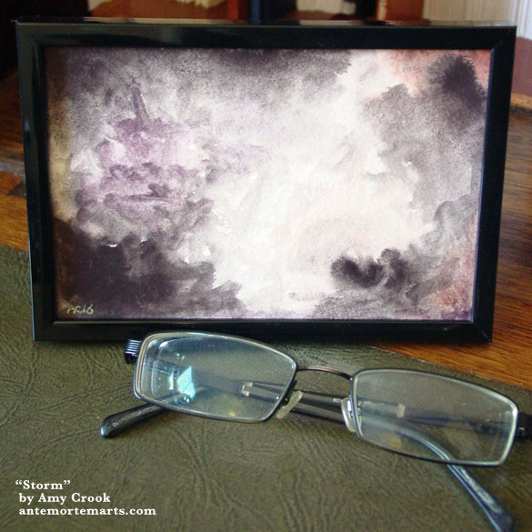 Storm, framed art by Amy Crook