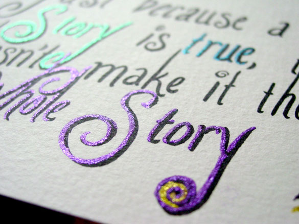 True Story, detail, by Amy Crook