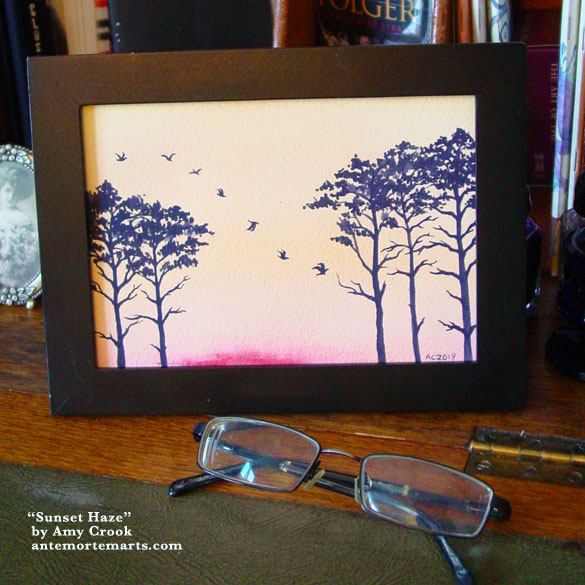 Sunset Haze, framed art by Amy Crook