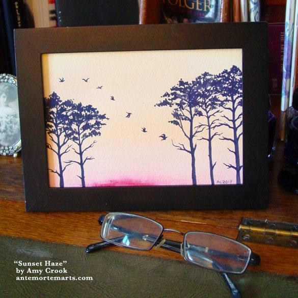 Sunset Haze, framed art by Amy Crook