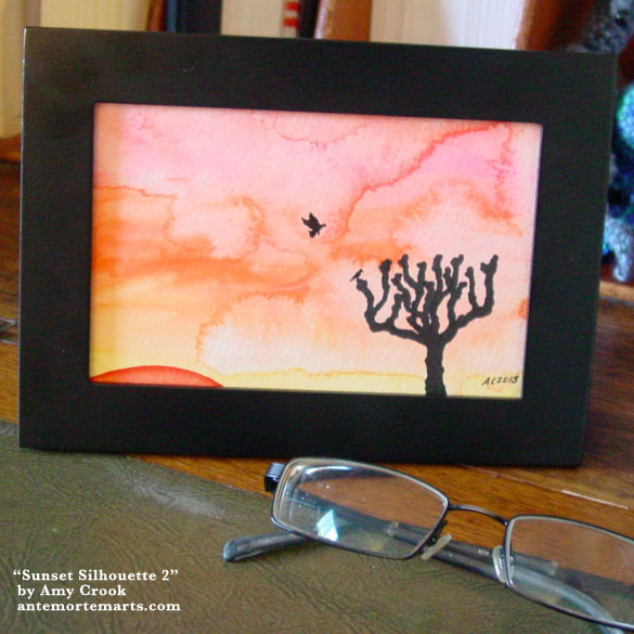 Sunset Silhouette 2, framed art by Amy Crook