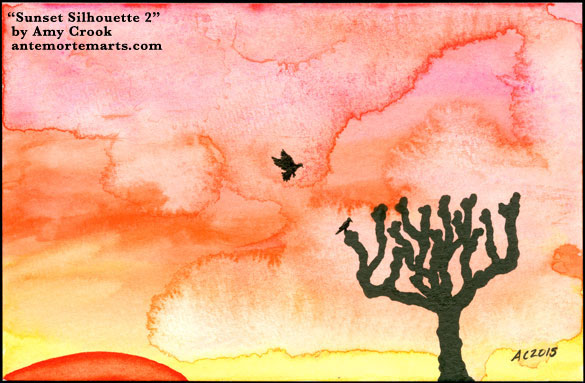 Sunset Silhouette 2 by Amy Crook