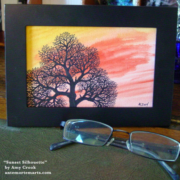 Sunset Silhouette, framed art by Amy Crook