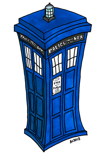 You make my heart bigger on the inside - a TARDIS Valentine by Amy Crook