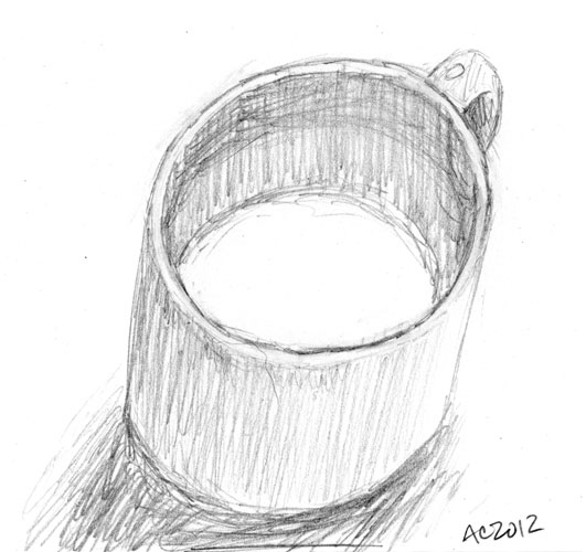 Tea Mug, sketch by Amy Crook