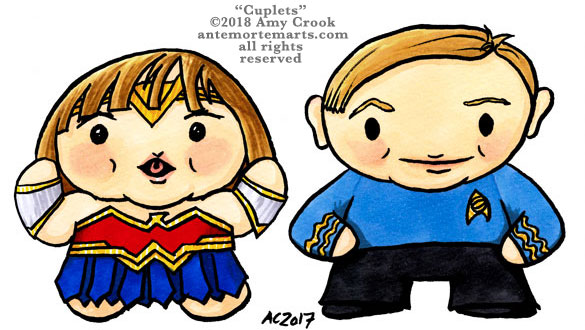 Cuplets, commission comic portraits by Amy Crook