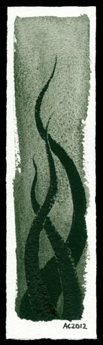 Tentacle Bookmark 2 by Amy Crook