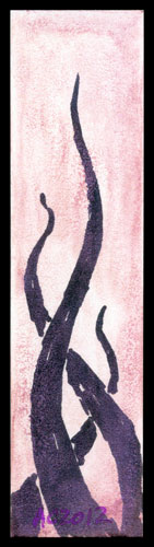 Tentacle Bookmark 4 by Amy Crook