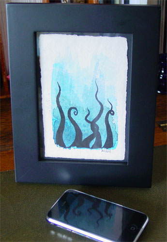 Tentacle Deeps 12, framed art by Amy Crook