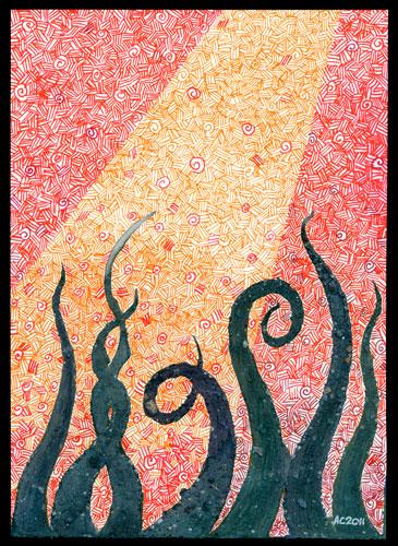 Tentacle Deeps 15, Cthulhu art by Amy Crook