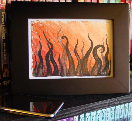 Tentacle Deeps 16, framed art by Amy Crook