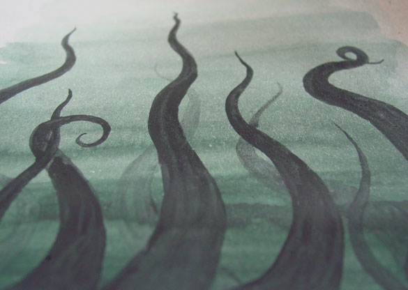 Tentacle Deeps 28, detail, by Amy Crook