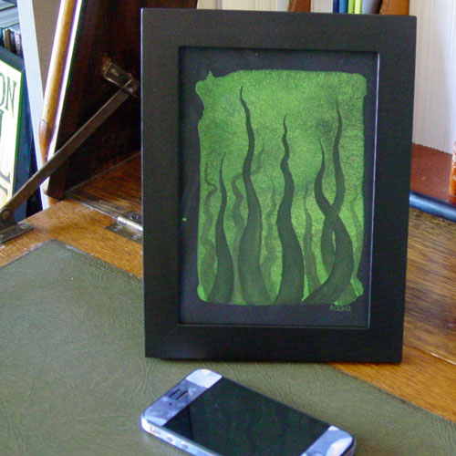 Tentacle Deeps 29, framed art by Amy Crook