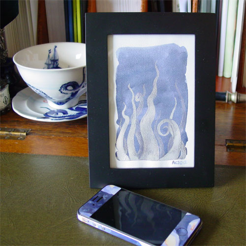 Tentacle Deeps 31, framed art by Amy Crook