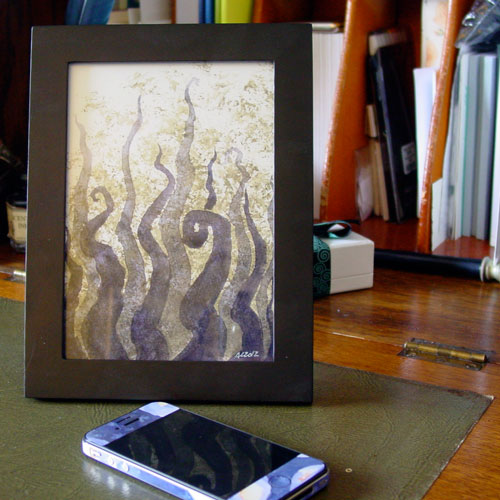 Tentacle Deeps 33, framed art by Amy Crook