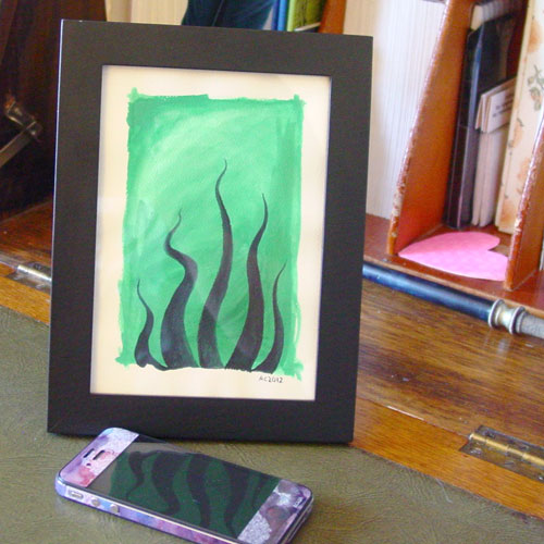 Tentacle Deeps 38, framed art by Amy Crook