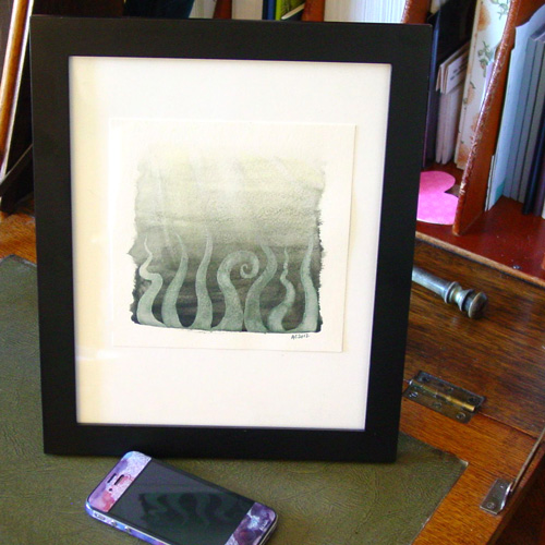 Tentacle Deeps 39, framed art by Amy Crook
