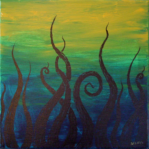 Tentacle Deeps 42, painting by Amy Crook