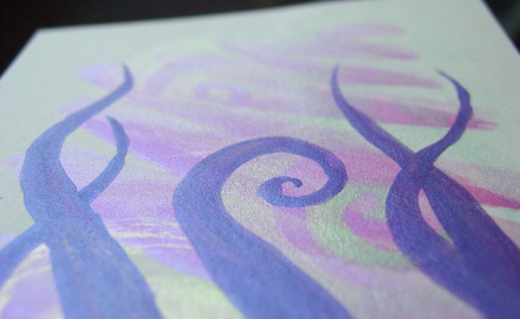 Tentacle Deeps 43, detail, by Amy Crook