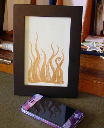 Tentacle Deeps 44, framed art by Amy Crook