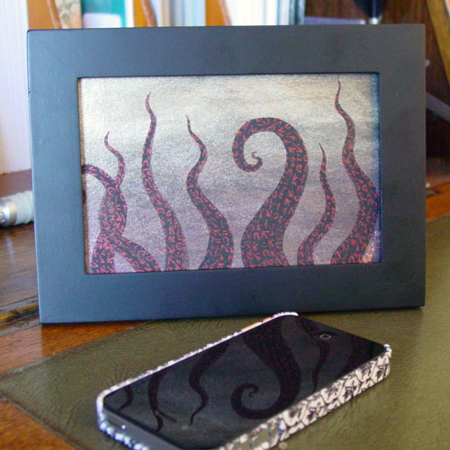 Tentacle Deeps 46, framed art by Amy Crook