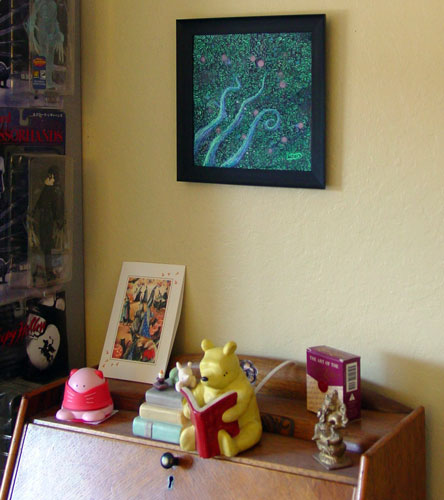 Tentacle Deeps 47, framed art by Amy Crook