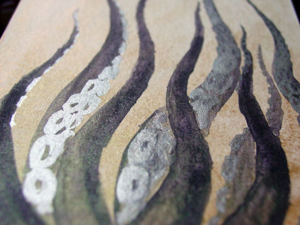 Tentacle Deeps 48, detail, by Amy Crook