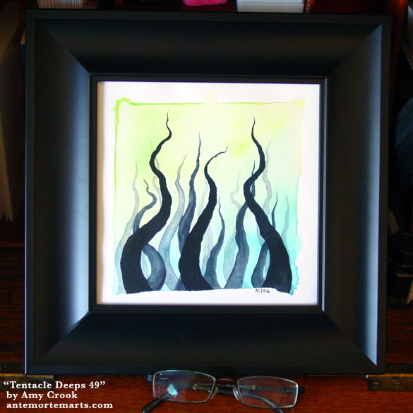 Tentacle Deeps 49, framed art by Amy Crook