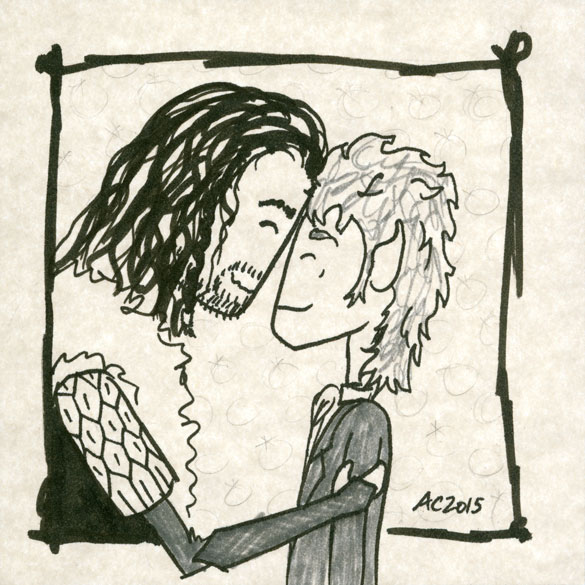 Affection, The Hobbit fan art sketch by Amy Crook