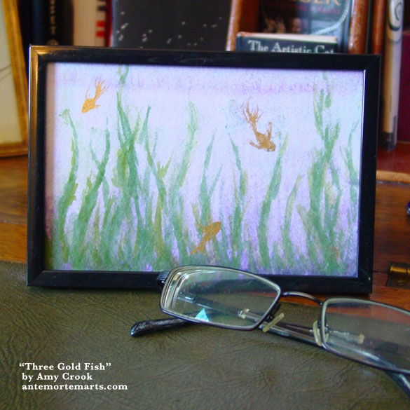 Three Gold Fish, framed art by Amy Crook