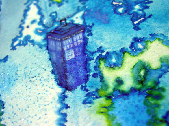 Wibbly Wobbly Timey Wimey, detail, by Amy Crook