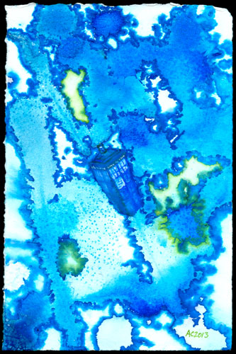 Wibbly Wobbly Timey Wimey, Doctor Who art by Amy Crook