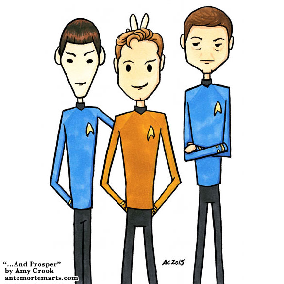 ...And Prosper, Star Trek parody art by Amy Crook