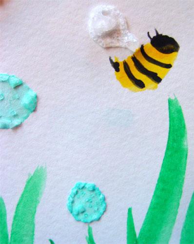 Twee Bees, detail, by Amy Crook