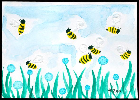 Twee Bees, art by Amy Crook