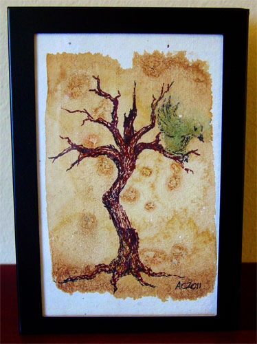 Twisted Tree, framed art by Amy Crook