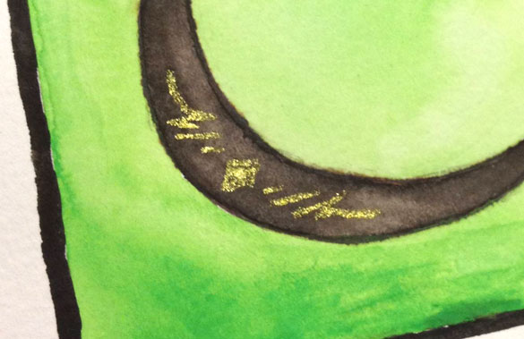 U is for Uncial, detail, by Amy Crook