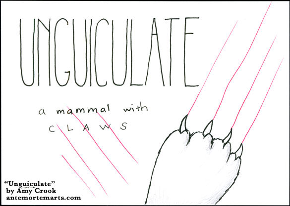 Unguiculate, word art by Amy Crook