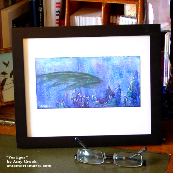 Vestiges, framed art by Amy Crook