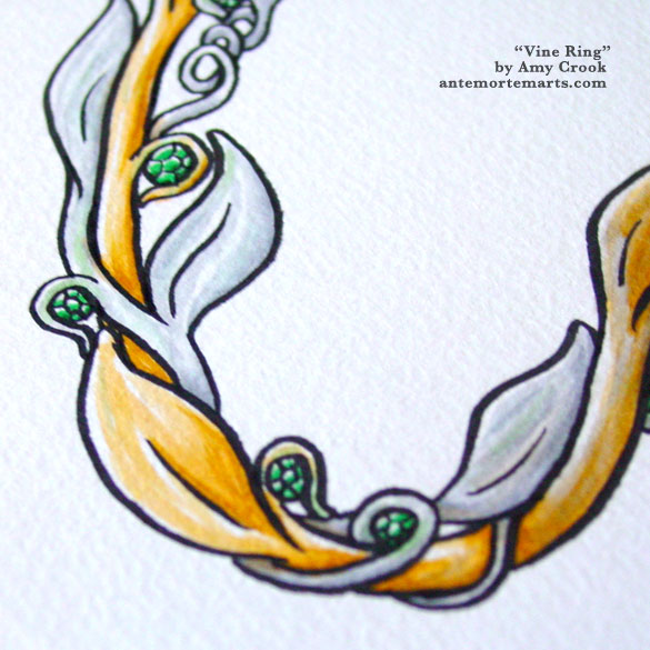 Vine Ring, detail, by Amy Crook