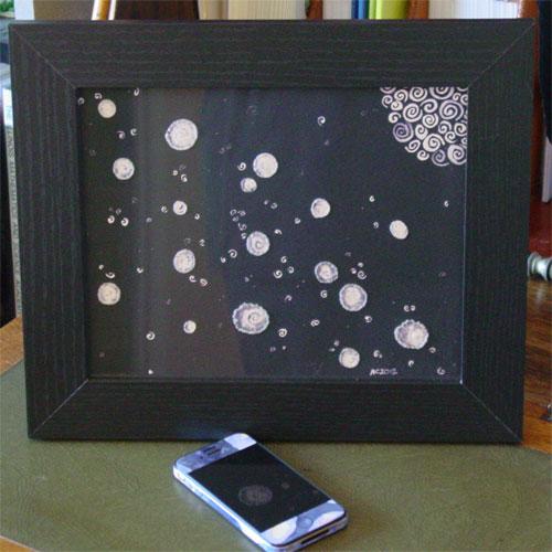 Violet Way, framed art by Amy Crook