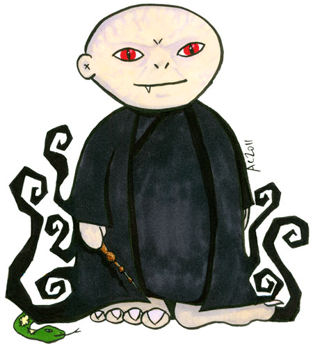 Weeble Voldemort cartoon by Amy Crook