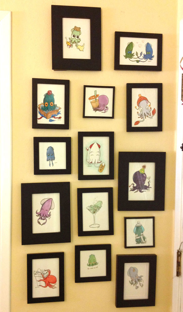 My wall o' Squid