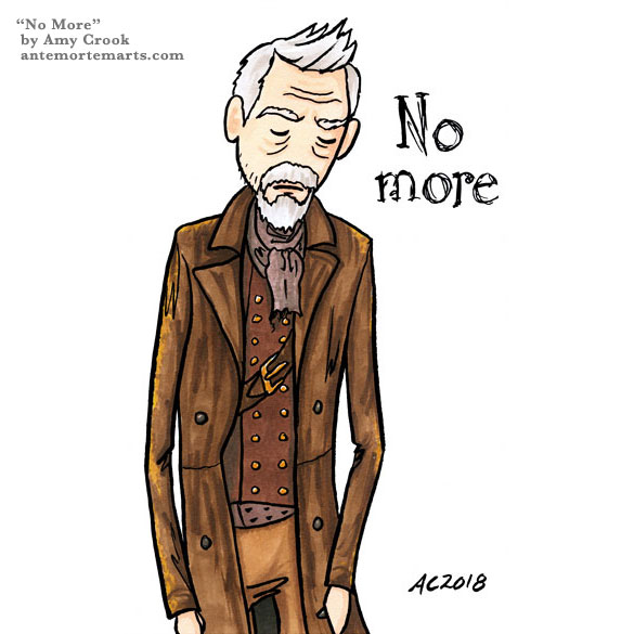 No More, Doctor Who parody fan art by Amy Crook