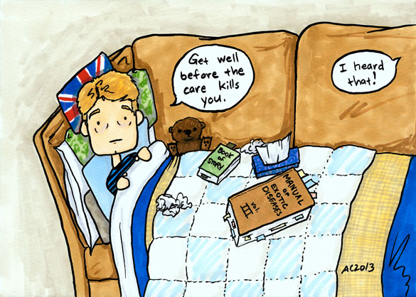 Get Well, Watson, Sherlock fan art by Amy Crook