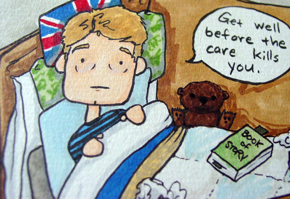 Get Well, Watson, detail by Amy Crook